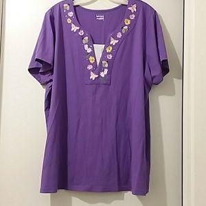 Basic Editions Woman 3X purple tee